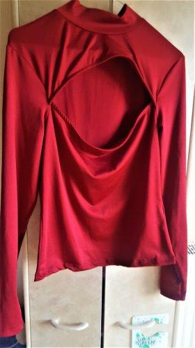 Amisu Turtleneck Shirt bordeaux mixture fibre