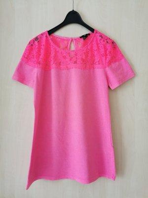 H&M Top de encaje salmón-rosa neón