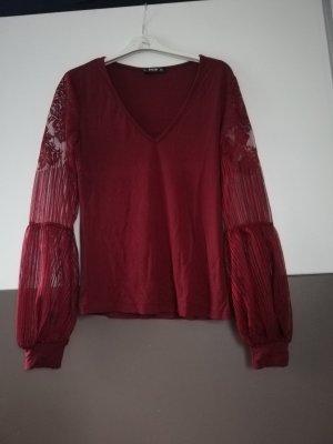 SheIn T-Shirt bordeaux