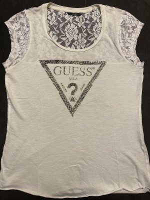 T-Shirt mit Spitzendetails von Guess