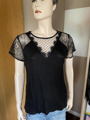 T-Shirt mit Spitzeneinsatz von H&M