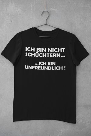 """T-Shirt mit Spruch """"Schüchtern"""""""