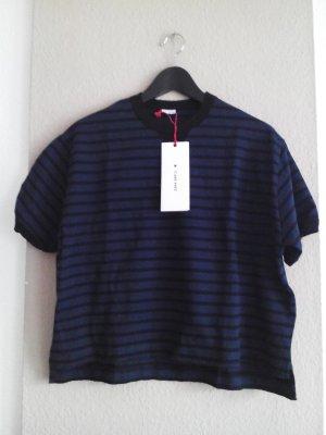 T- Shirt mit Streifen aus 100% Baumwolle, SRPLS Collection, Größe S oversize, neu