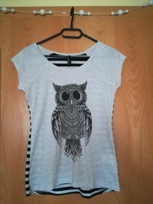 Blind Date T-shirt czarny-jasnobeżowy