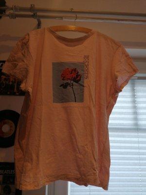 t shirt mit süßem Rosen muster