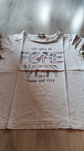 T-Shirt mit Textprint