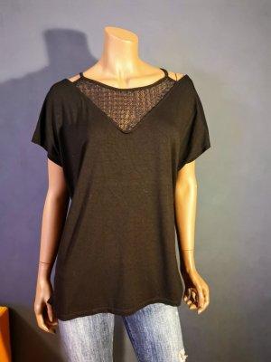 T - Shirt, mit transparenten Ärmeln