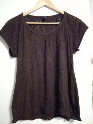 T-Shirt mit transparenten Muster