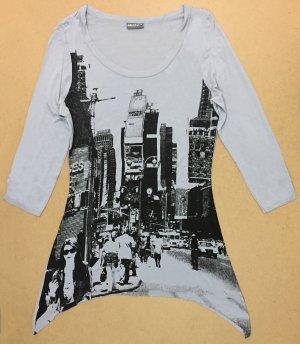 T-Shirt mit U-Ausschnitt, 3/4 ärmlig, Gr. 36