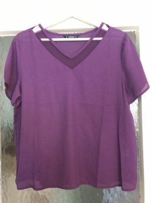 SheIn V-Neck Shirt lilac