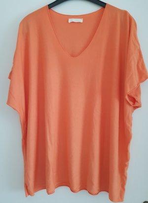 0039 Italy T-shirt col en V orange