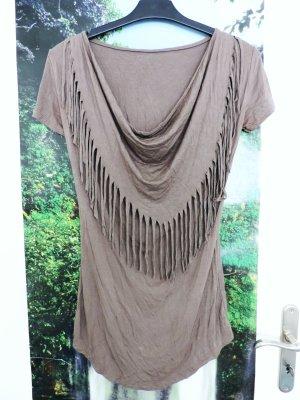 s.Oliver Cowl-Neck Shirt brown-light brown