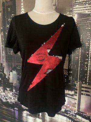 T-Shirt mit Wende Pailletten Gr. S
