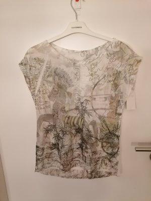 T-Shirt Moda weiß mit Druck Gr. M neu