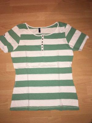 T-Shirt Multiblu türkis, weiß in Größe L