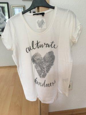 T-Shirt Naturweiß mit Silberdruck