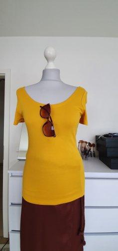 C&A T-shirt złotopomarańczowy