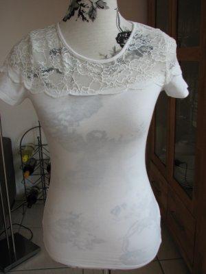 H&M Top basic bianco sporco-beige chiaro