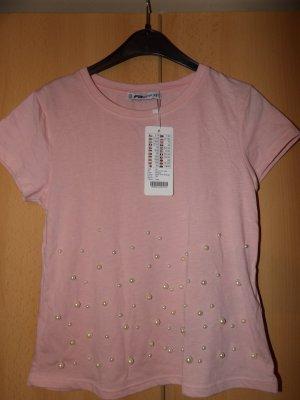 T-Shirt Oberteil Perlen Gr. XS 34 Neu