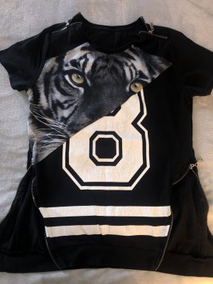 CoolCat Long Shirt black-white