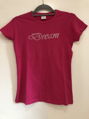 T-Shirt pink, Glitzer Schrift, Elle Nor, Gr. S