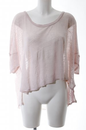 T-Shirt pink meliert Casual-Look