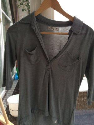 T-Shirt Poloshirt Shirt Hollister grau