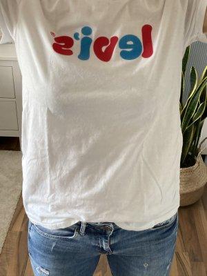 T-Shirt - Print - Shirt - weiß - rot - blau - Levi`s