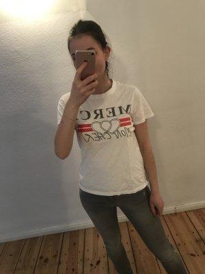 T-shirt imprimé blanc-rouge
