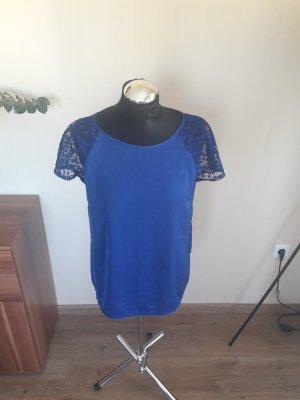 T-Shirt Promod Blau Gr. 36 spitze