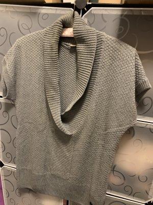 s. Oliver (QS designed) Sweter z krótkim rękawem srebrny