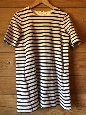 T-shirt Ringel Mini Kleid mit Taschen in dunkelblau weiß Ringel