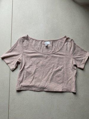 T-Shirt rosa cropped bauchfrei H&M Gr. M