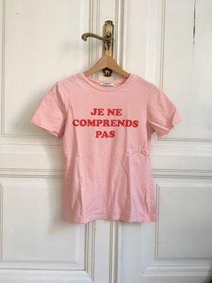 T-Shirt rosa rosé mit Statement von Glamorous XS