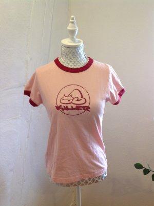 T-Shirt rosa-rot Gr. S, Killer Kätzchen