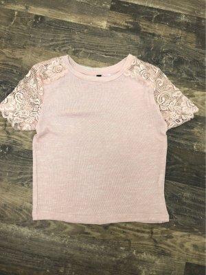 Gehaakt shirt rosé