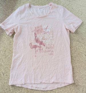 T-Shirt rose mit Aufdruck