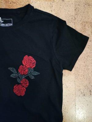 T-shirt Rosen cropped