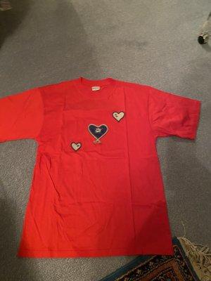 T-Shirt , rot , Hess Frackmann