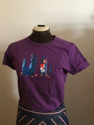 Cyroline Print Shirt dark violet