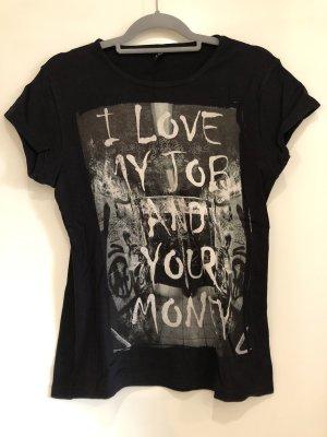 T-Shirt schwarz, Madonna, Gr. XL