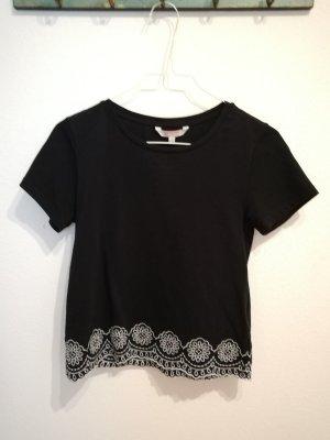 T-Shirt schwarz mit Stickerei