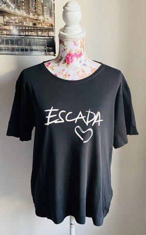 T-Shirt schwarz mit weißem Print -Escada Sport-