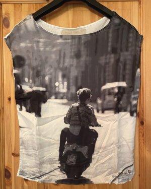 Garcia T-shirt bianco-nero