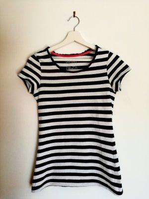T-shirt Schwarz-Weiß gestreift