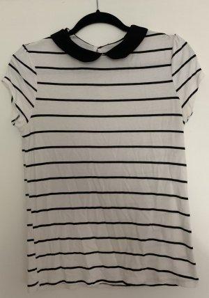 T-Shirt | Schwarz/Weiß | Streifen | Größe 36 | Atmosphere