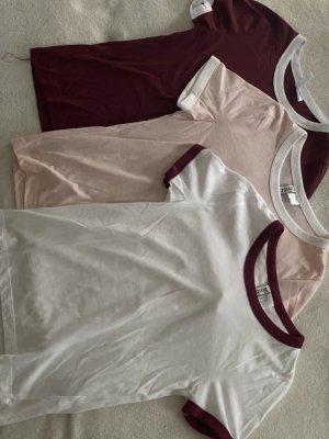 T-Shirt Set in 3 verschiedenen Farben
