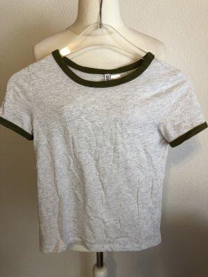 T-Shirt Shirt Basic hellgrau Gr. XS