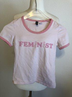 T-Shirt Shirt Basic mit Print Gr. XS