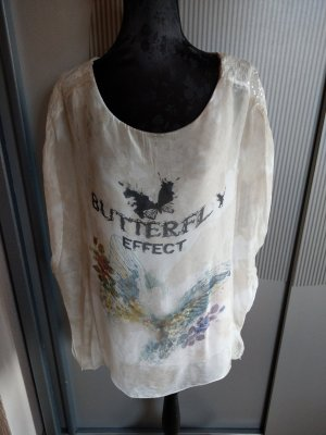 T-Shirt Shirt beige Pailletten Made in Italy